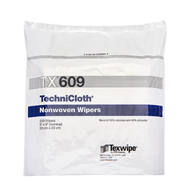 TechniCloth® TX609 Nonwoven Dry Cleanroom Wipers, Non-Sterile