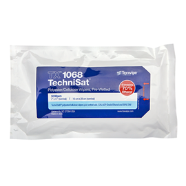 Picture of TechniSat® TX1068 Pre-Wetted Nonwoven Cleanroom Wipers, Non-Sterile