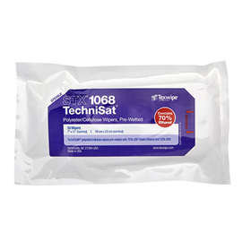 Picture of Sterile TechniSat® STX1068 Pre-Wetted Nonwoven Cleanroom Wipers