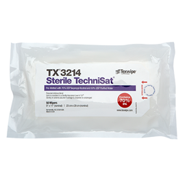 Picture of Sterile TechniSat® TX3214 Pre-Wetted Nonwoven Cleanroom Wipers