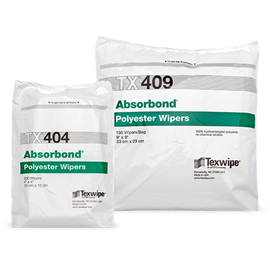 Absorbond® Dry Nonwoven Cleanroom Wipers, Non-Sterile