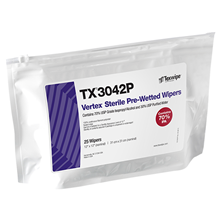 Picture of Sterile Vertex® TX3042P Pre-Wetted Cleanroom Wipers