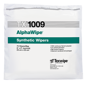 Picture of AlphaWipe® TX1009 Dry Cleanroom Wipers, Non-Sterile