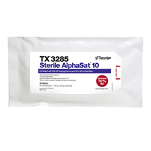 Picture of Sterile AlphaSat® with Vectra® Alpha® 10 TX3285 Pre-Wetted Cleanroom Wipers, Sterile