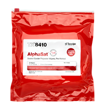 Picture of AlphaSat® with Vectra® Alpha® 10 TX8410 Pre-Wetted Cleanroom Wipers, Non-Sterile
