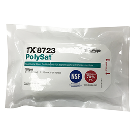 Picture of PolySat® TX8723 Pre-wetted Cleanroom Wipers, Non-Sterile, NSF-certified